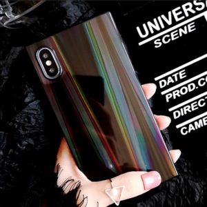 Accessories - Holographic Prism Square iPhone Case 💎